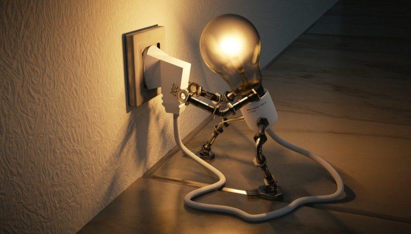light bulb of ideas